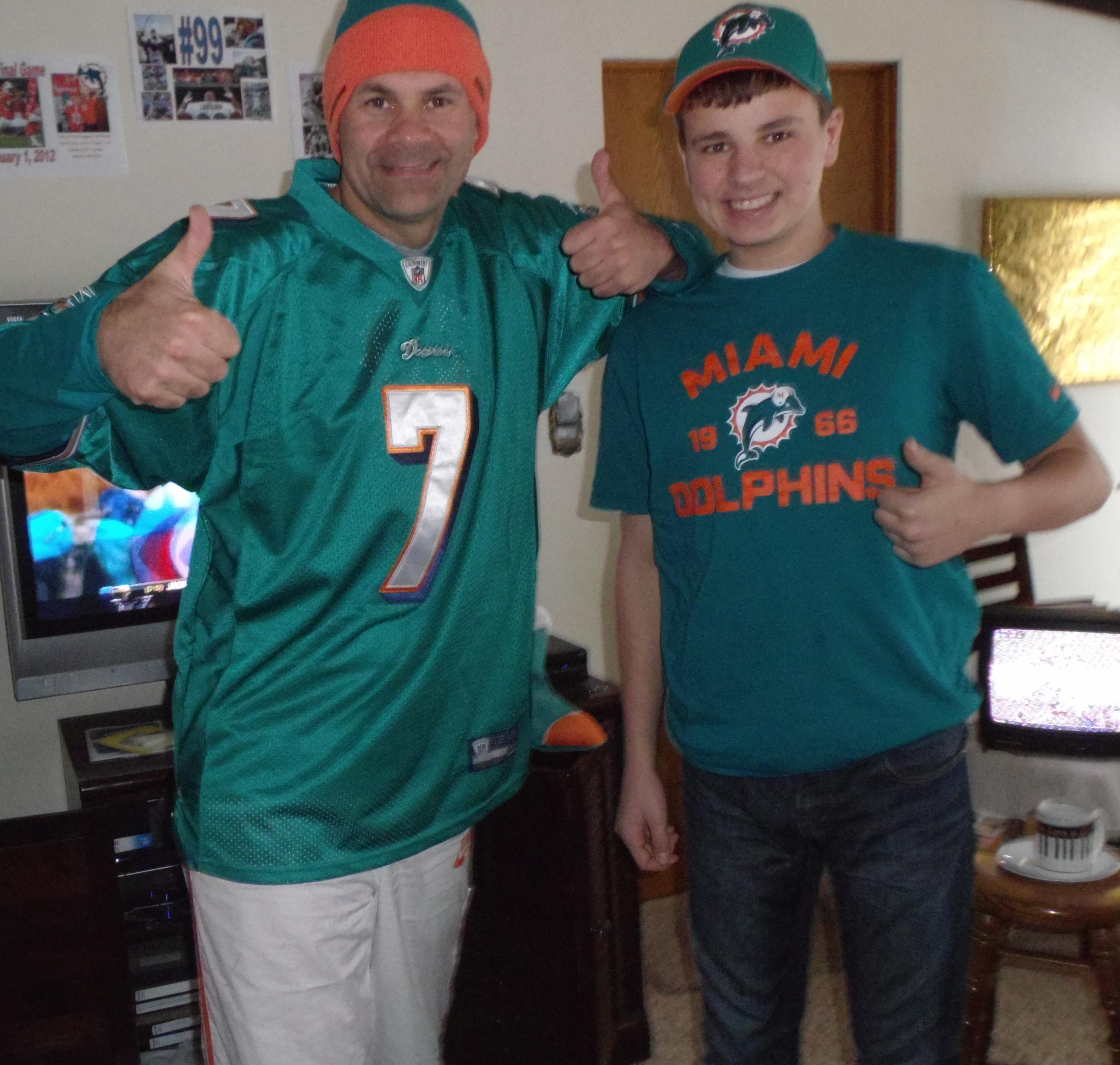 12-16-12 Alex & Uncle G celebrate FIN win over Jaguars, 24-3, in Week 15!