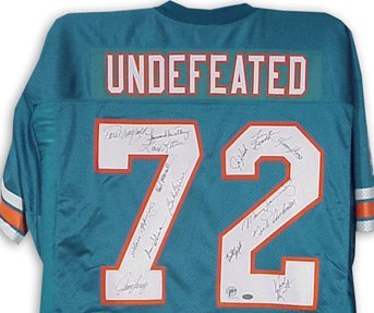 This jersey symbolizes the Perfect Dolphins of 1972.