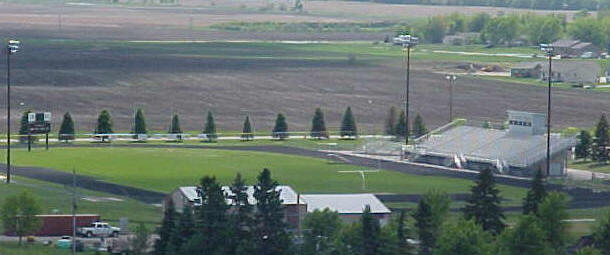 View of AB Campbell Stadium from atop Milbank Insurance Building on 5-21-10