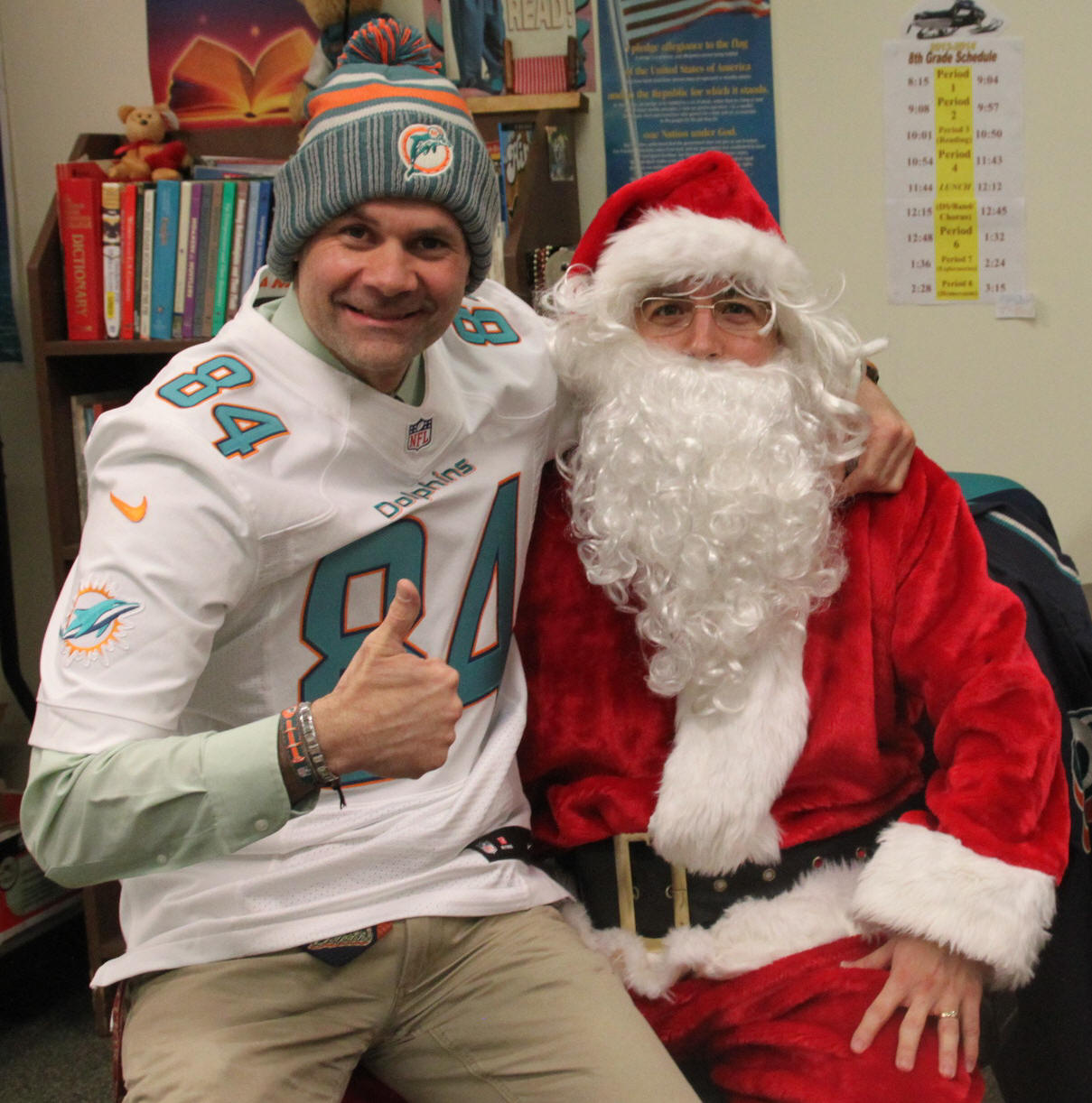 I got to tell Santa how great the Dolphins are in 2013!
