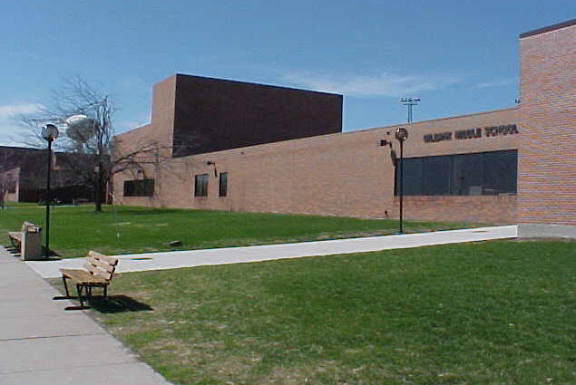 View of our school from the southeast