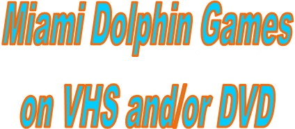 I ABSOLUTELY LOVE WATCHING OLD DOLPHIN GAMES!!!